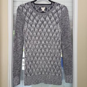 J.Crew Textured Knit Marled Sweater